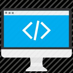 coding, computer, data, development, program, software, web icon
