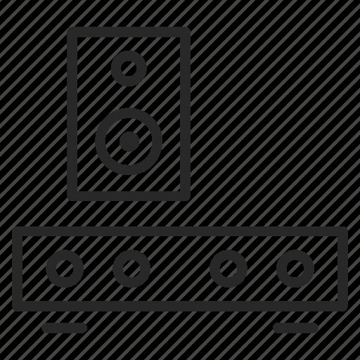 audio, player, sound, soundbar icon