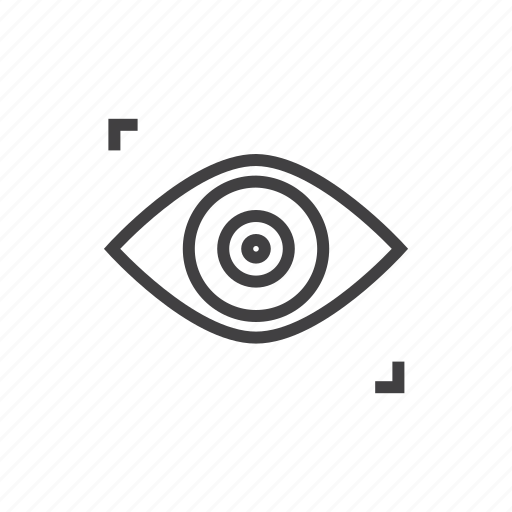 find, look, see, vision icon