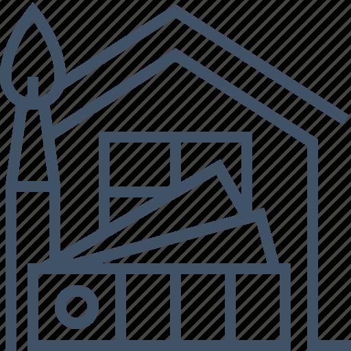 brush, chart, color, design, home, house, interior icon