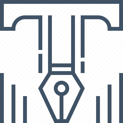 font, pen, point, text, tool, type, typography icon