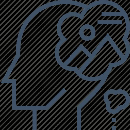 brainstroming, design, idea, imagination, inspiration, thinking icon