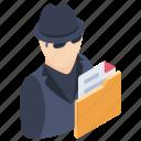 hacker, ransomware, phishing, cybercriminal, hacktivist, hacker activity icon