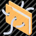 data virus, file virus, infected file, infected folder, malware icon