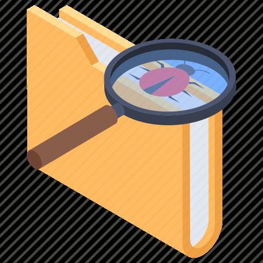 bug analysis, bug monitoring, bug search, bug tracking, find bug icon