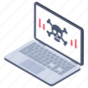computer hacking, cybercrime, darknet, hacking, phishing, ransomware icon