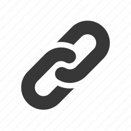 chain, interface, internet, link, linked, raw, simple, web icon