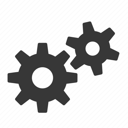 gears, interface, raw, settings, simple, web icon