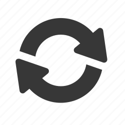 arrow, interface, raw, simple, synchronize, web icon