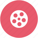 camera shutter, cinema, film, film reel icon