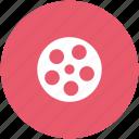 camera shutter, cinema, film, film reel icon