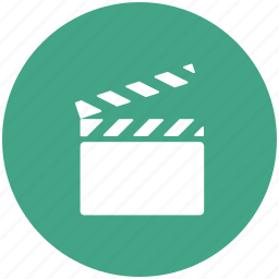 audio play, cinematography, clapboard, clapper, filmmaking, shooting board, video icon