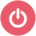 power, power off, remove power, shutdown, standby, stop icon