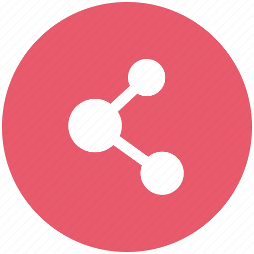 connection, contacts, link, linkage, molecule icon