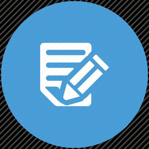 calculation sheet, edit, pencil, sheet, writing pad, writing sheet icon