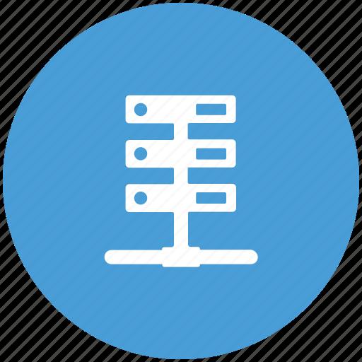 data, data service, data storage, host, network, server, web icon
