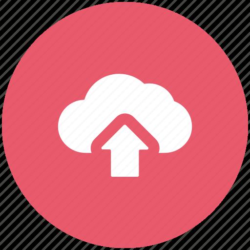 arrow, cloud, cloud network, down, download, icloud, online icon