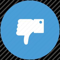 dislike, dislike sign, hand, like, no, social dislike, thumb down, unlike icon