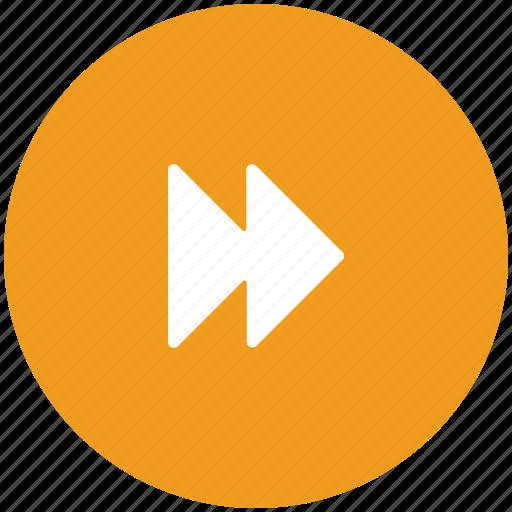 audio forward, forward, media, multimedia, player, video forward icon