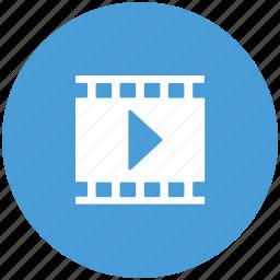 cinema, media, media player, movie, multimedia, play movie icon