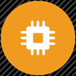chip, cpu, desktop processor, microchip, processor icon