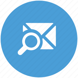 letter, magnifier, search, search email, searching, view icon