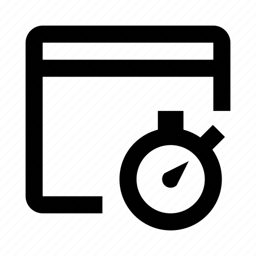 browser, diagnostics, site, speed, test icon