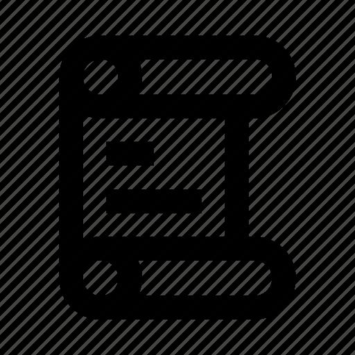 code, js, manuscript, roll, script, scroll icon