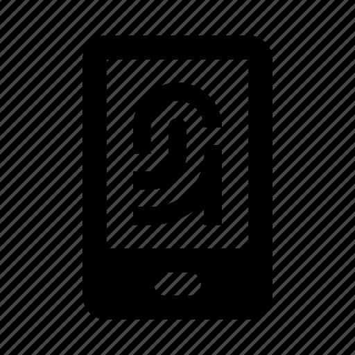 fingerprint, id, scan, secure, smartphone, zoom icon