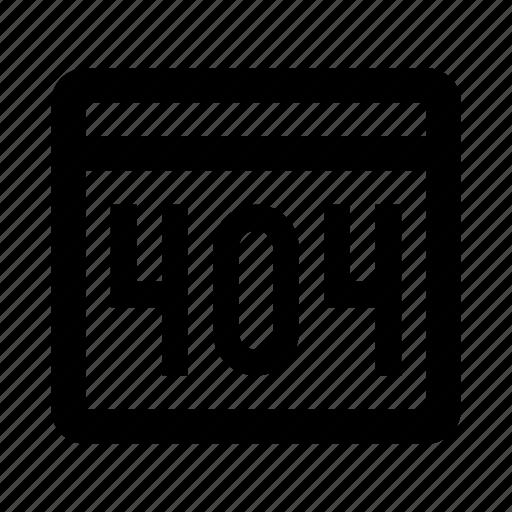 `404, error, page, window icon