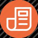 article, blog, content, headline, news icon