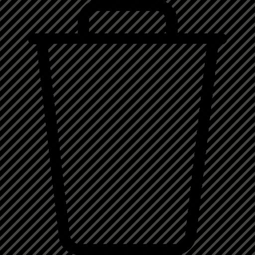 dustbin, garbage can, recycle bin, rubbish bin, trash icon