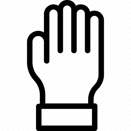 body part, glove, hand, organ, right hand icon