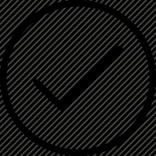 check mark, checked, correct, tick, verified icon