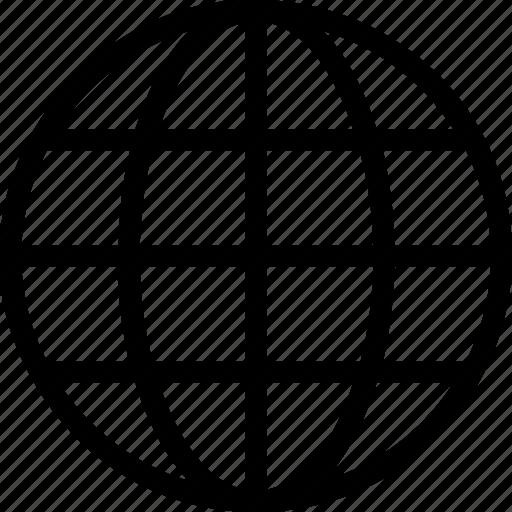 earth, geography, globe, grid, map icon