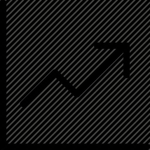 Graph, growth, chart, arrow, statistics icon