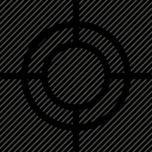 aim, bullseye, crosshair, goal, target icon