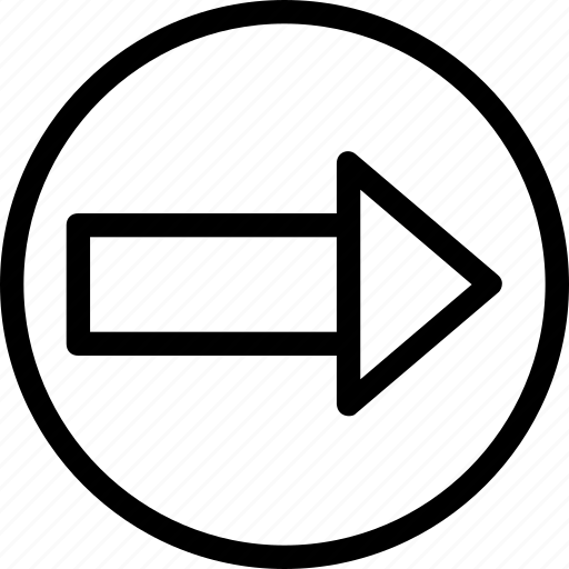 arrow, directional, forward, next, right icon