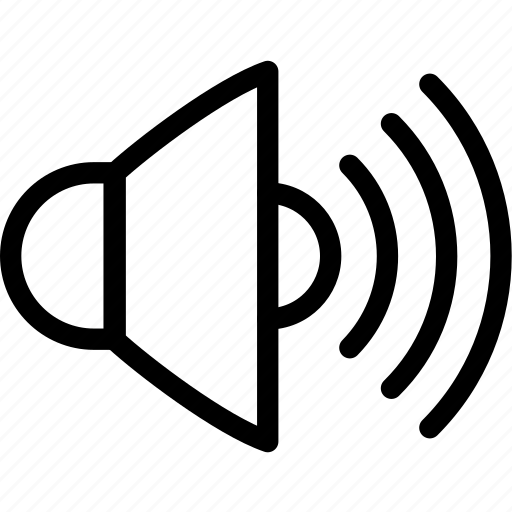 audio, loud, music, speaker, volume icon