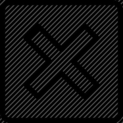 cross, delete, math symbol, multiply, remove icon