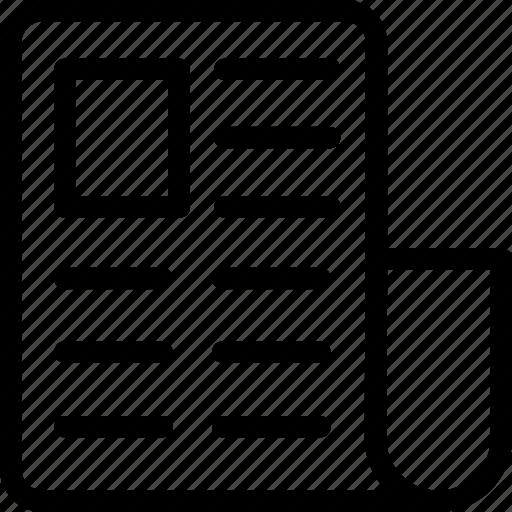article, blog, media, news, newspaper icon
