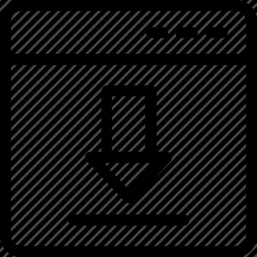arrow, download, import, inbox, ui icon