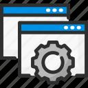 browser, cogwheel, options, page, settings, web, website