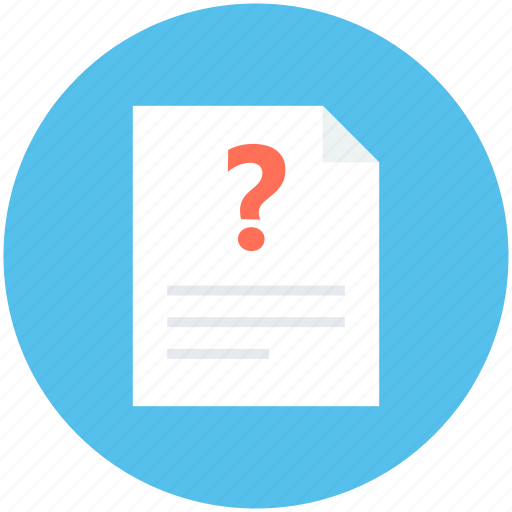Faq, query, question, question sheet, questionnaire icon - Download on Iconfinder