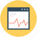graph screen, page ranking, page rating, seo graph, webpage icon