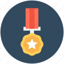 award, award medal, gold medal, medal, military badge icon