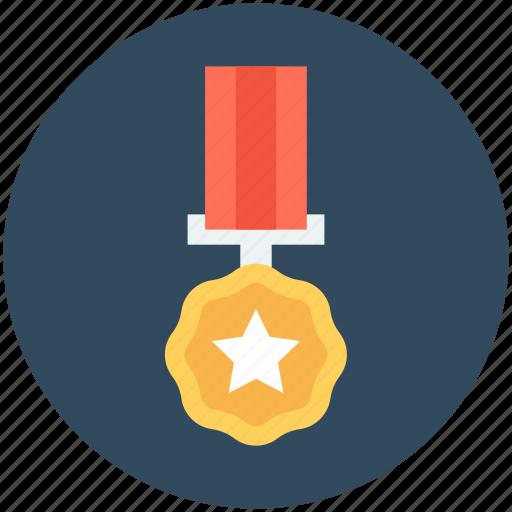 award, award medal, gold medal, medal, military badge icon