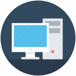 computer, desktop computer, desktop pc, personal computer, tower pc icon