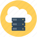 cloud computing, cloud network, cloud server, network hosting, network sharing icon