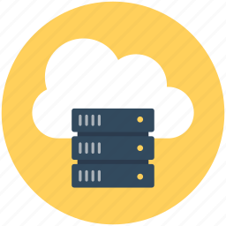 cloud computing, cloud network, cloud server, network hosting, network sharing icon